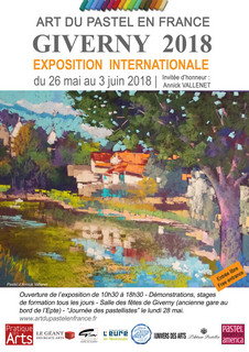 Salon 2018 art du pastel en France à Giverny